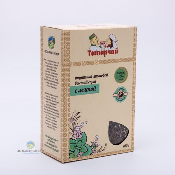 Чай индийский листовой с мятой