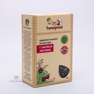 Чай индийский листовой с листьями малины
