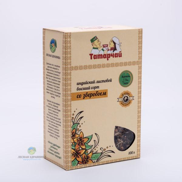 Чай индийский листовой со зверобоем