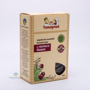 Чай индийский листовой с листьями вишни